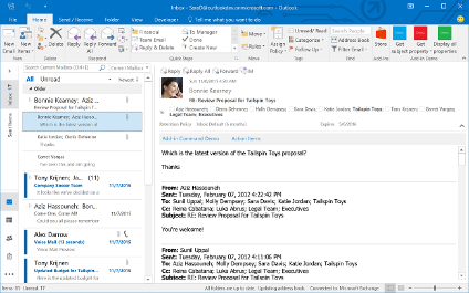 Outlook add-in integration